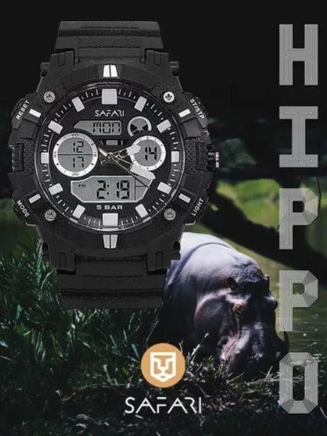 Relógio Masculino Esporte Safari Hippo