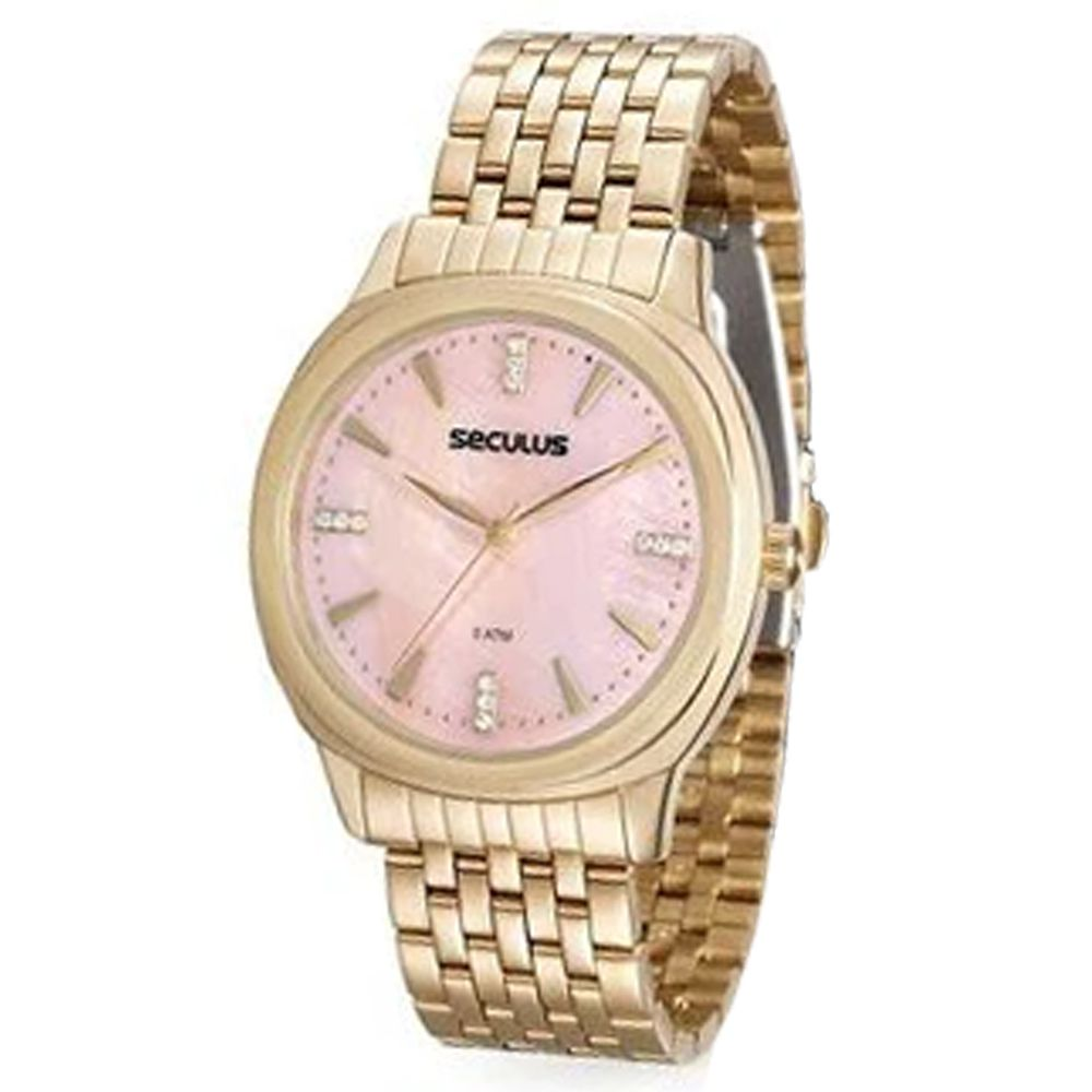 Relógio Seculus Feminino Dourado 20504LPSVDS1K1