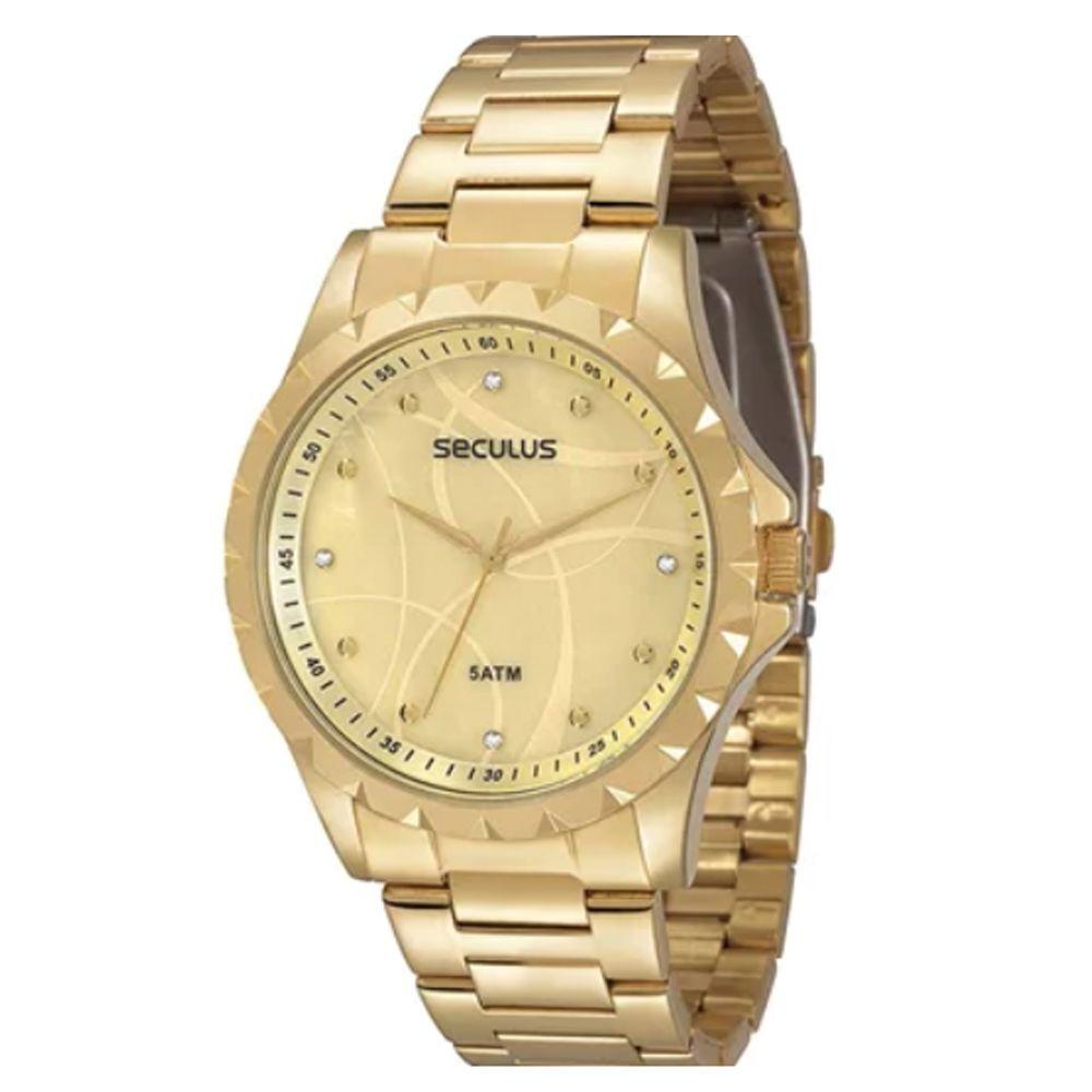 Relógio Seculus Feminino Dourado 28389LPSVDS1