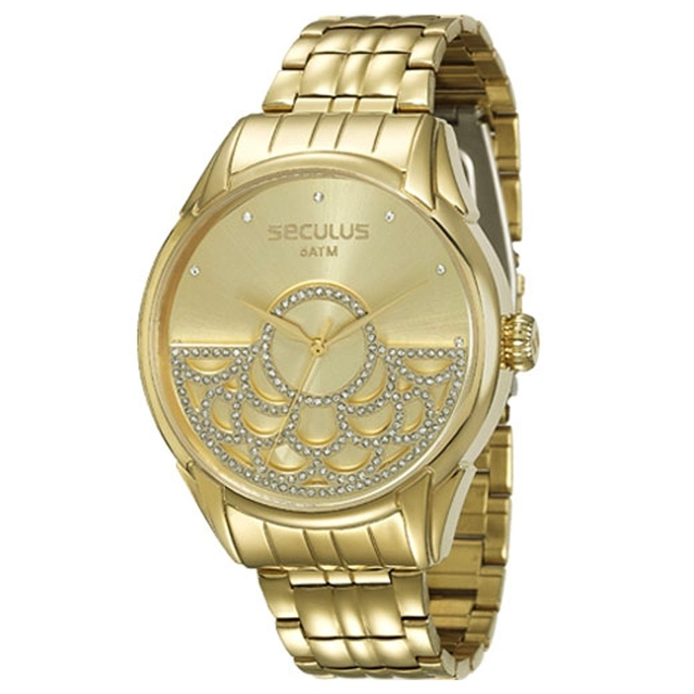 Relógio Seculus Feminino Dourado 28652LPSVDA1