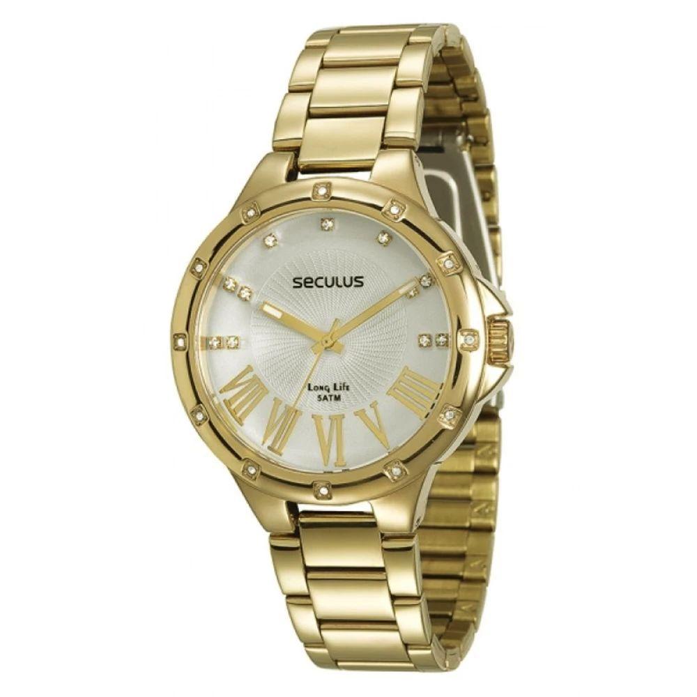 Relógio Seculus Feminino Long Life 28568LPSVDA1