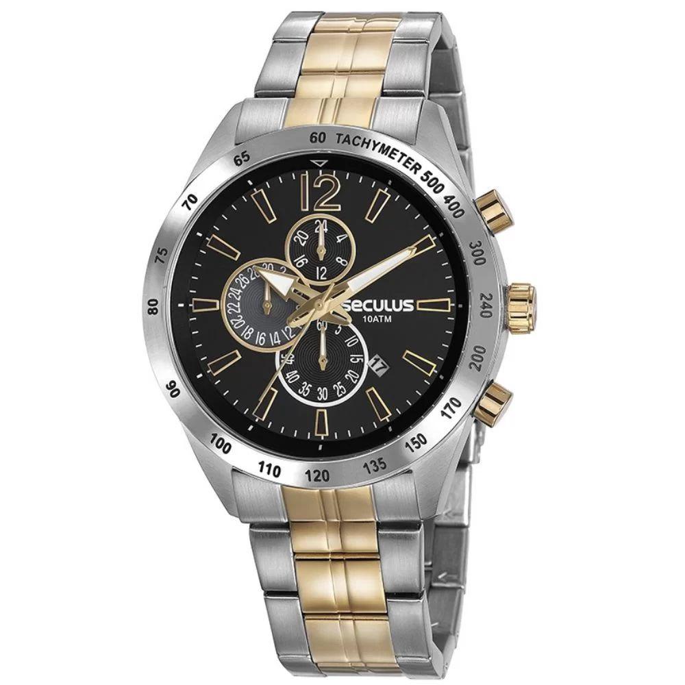 Relógio Seculus Masculino Bicolor 20767GPSVBA3