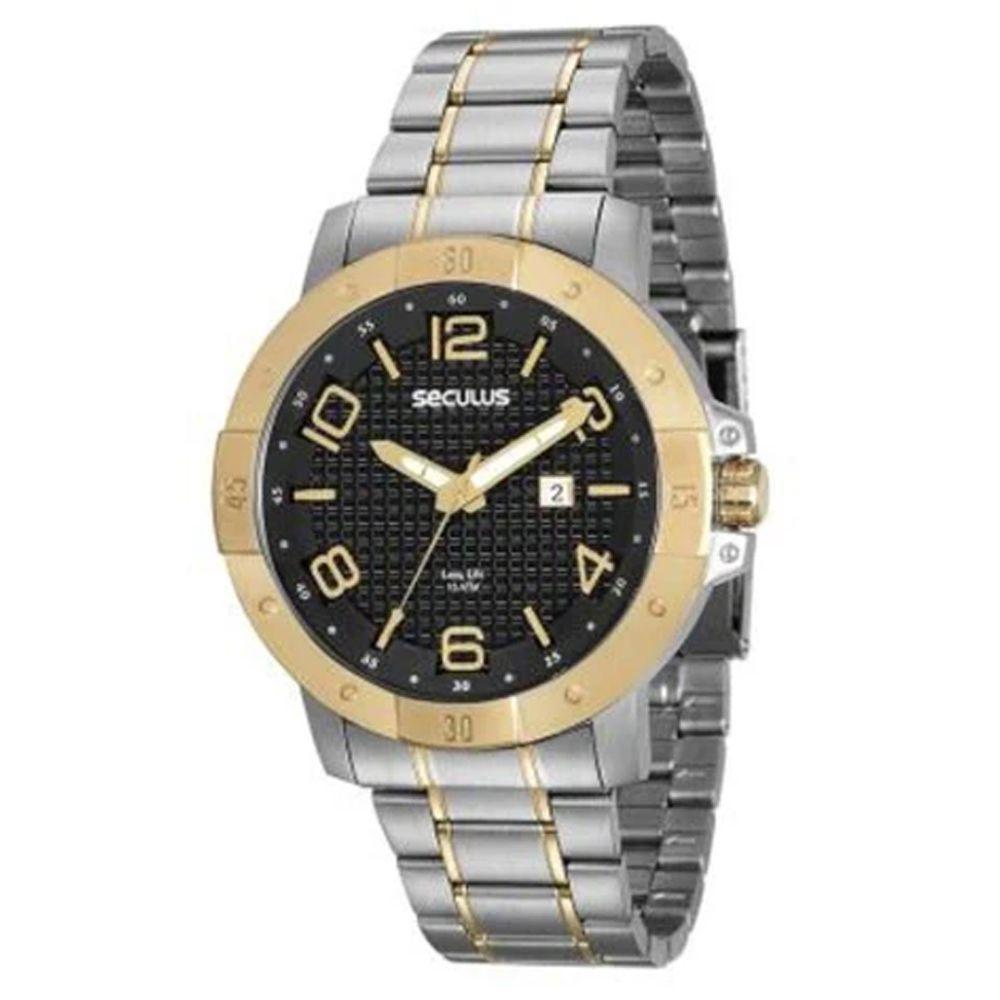 Relógio Seculus Masculino Long Life 20538GPSVBA1