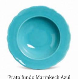 JOGO 6 PRATOS FUNDOS MARRAKECH AZUL POPPY PORTO BRASIL