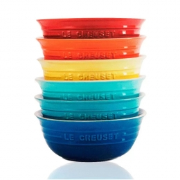 SET 6 BOWLS PARA CEREAL GIFT COLLECT LE CREUSET
