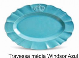 TRAVESSA WINDSOR 44CM AZUL POPPY PORTO BRASIL