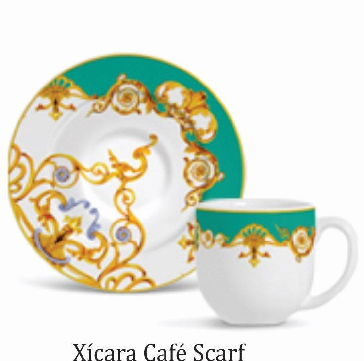 JOGO DE 6 XÍCARAS DE CAFÉ FLAT SCARF
