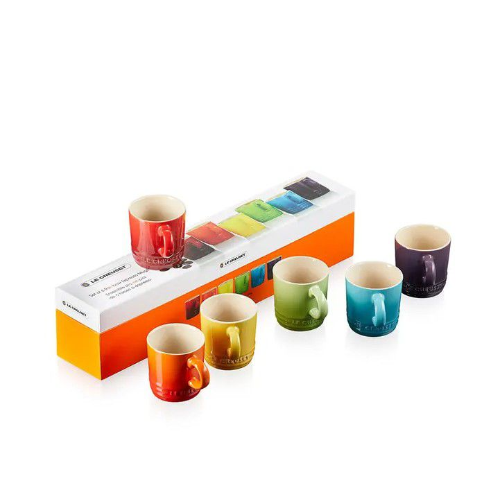 JOGO 6 CANECAS 350ML GIFT COLLECTION LE CREUSET