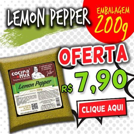 lemon pepper 200g - tempero cocina mix - econômica