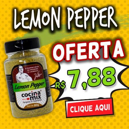 Lemon Pepper 80g - Tempero Cocina Mix