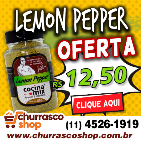 lemon pepper 80g - tempero cocina mix