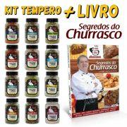 COLEÇÃO COMPLETA DOS TEMPEROS OFICIAIS TV CHURRASCO + Livro
