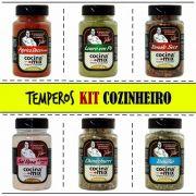 Kit Temperos - Cozinheiro - 6 Potes