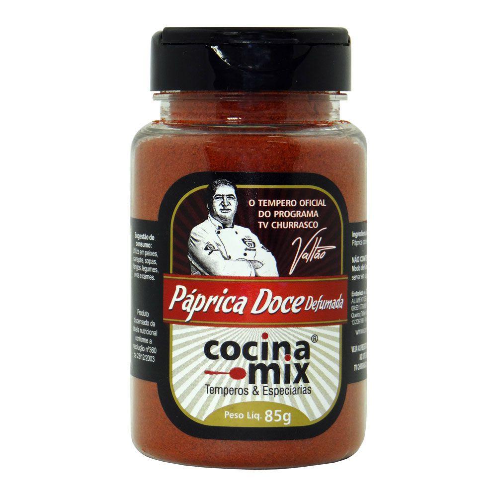 Páprica doce defumada - Tempero Cocina Mix Pet 85g