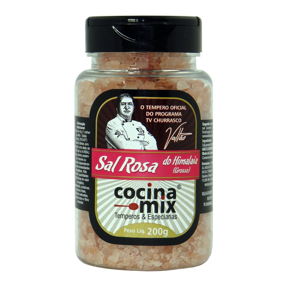 Sal Rosa do Himalaia (Grosso) - Tempero Cocina Mix  Pet 200g