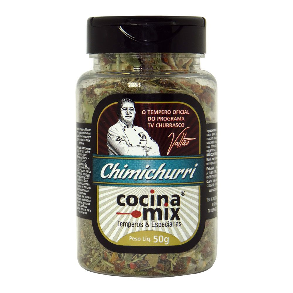 Chimichurri - Tempero para Churrasco - 50g -  Cocina Mix
