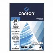 Bloco A4 Aquarela 300g 12 Folhas Canson