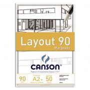 Bloco Layout 90 Margeado A2+ 90g/m² - Canson