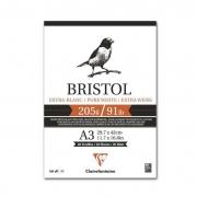 Bloco para Desenho Clairefontaine Bristol 205g/m² A3