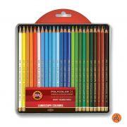 Lápis de Cor Artístico Polycolor 24 Tons de Paisagem Koh-I-Noor 2438P