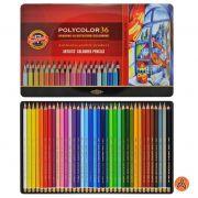 Lápis de Cor Artístico Polycolor 36 Cores Koh-I-Noor