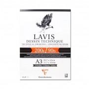 Papel Para Desenho Técnico Clairefontaine Lavis 200g/m² A3 10 fls