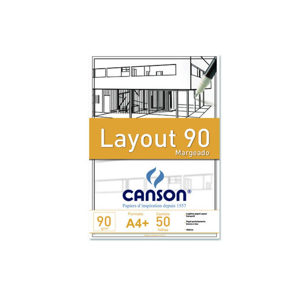 Bloco layout margeado canson 90g A4 + 50 folhas - Canson