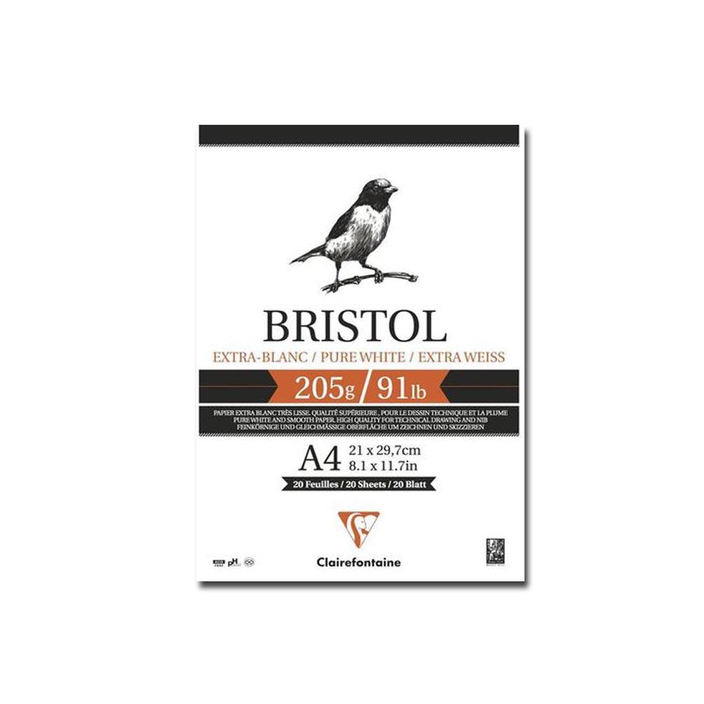 Bloco para Desenho Clairefontaine Bristol 205g/m² A4