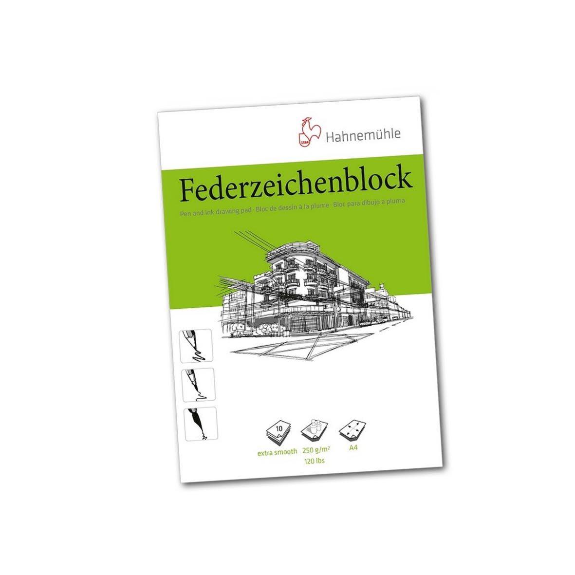 Bloco para desenho Federzeichen 250g/m2 A4 10 folhas  Hahnemuhle