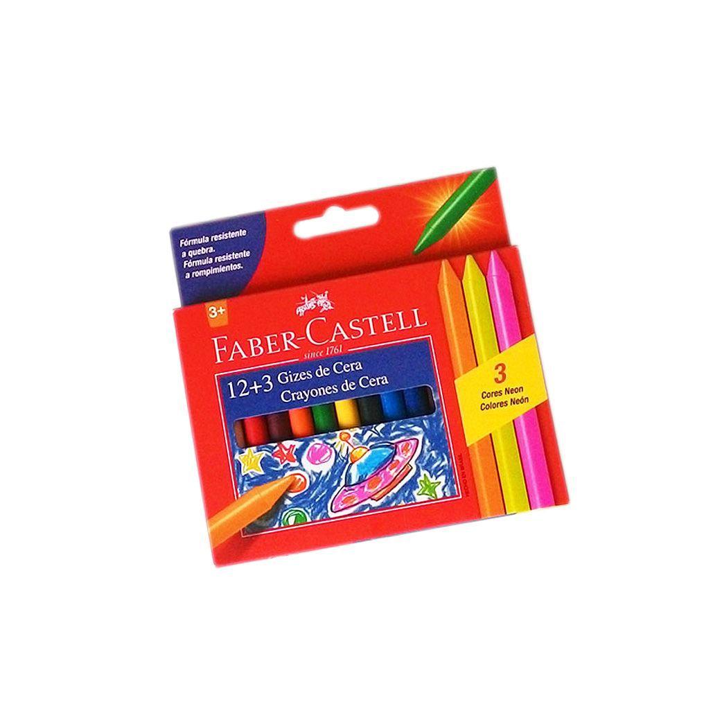 Giz de cera fino 12+3 cores neon Faber-Castell