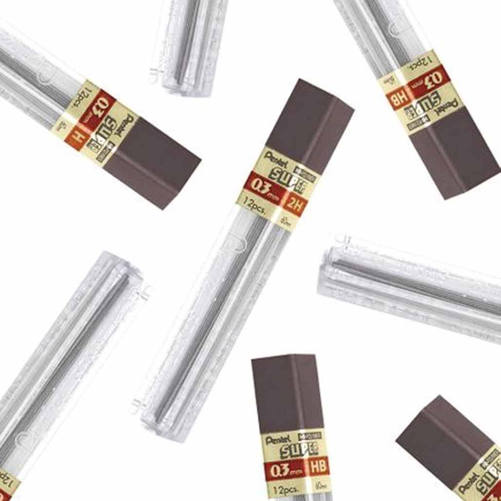 Grafite Hi-Polymer® Super 0.3 Pentel Graduações Avulsas