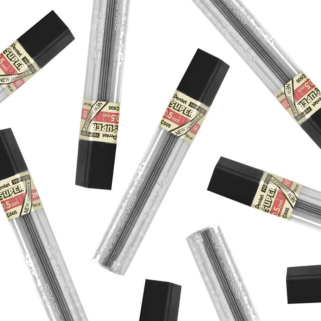 Grafite Hi-Polymer® Super 0.5 Pentel Graduações Avulsas