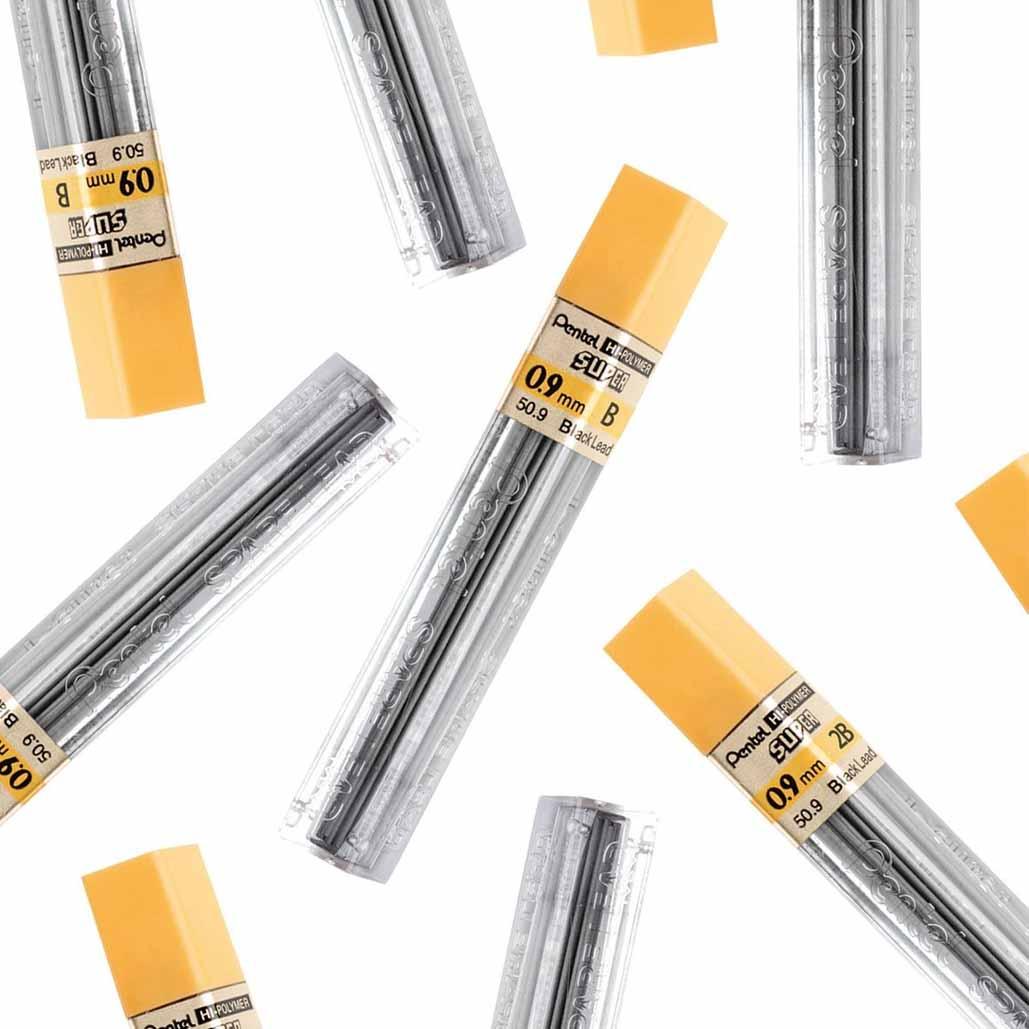 Grafite Hi-Polymer® Super 0.9 Pentel Graduações Avulsas