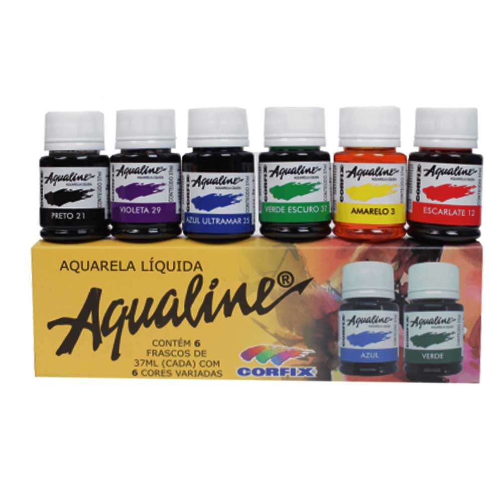 Kit Aquarela Liquida 6und Corfix 37ml (Aqualine)