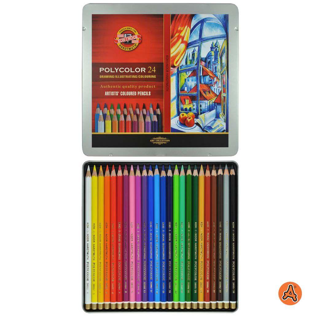Lápis de Cor Artístico Polycolor 24 Cores Koh-I-Noor 3824