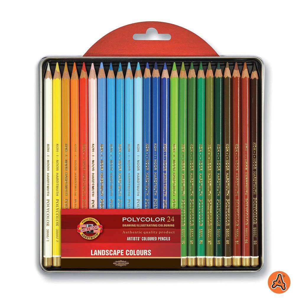 Lápis de Cor Artístico Polycolor 24 Tons de Paisagem Koh-I-Noor
