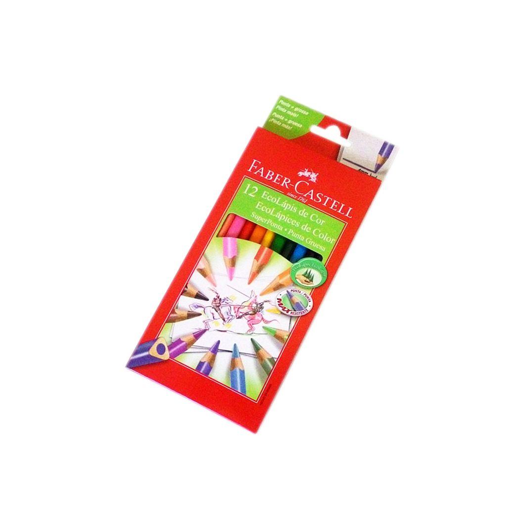 Lápis de cor Ecolápis Super Ponta 12 cores FABER-CASTELL