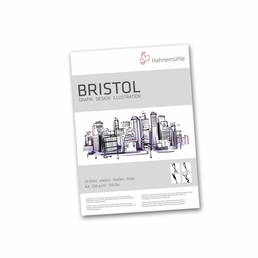 Papel Bristol Hahnemuhle A4 250g 20 folhas