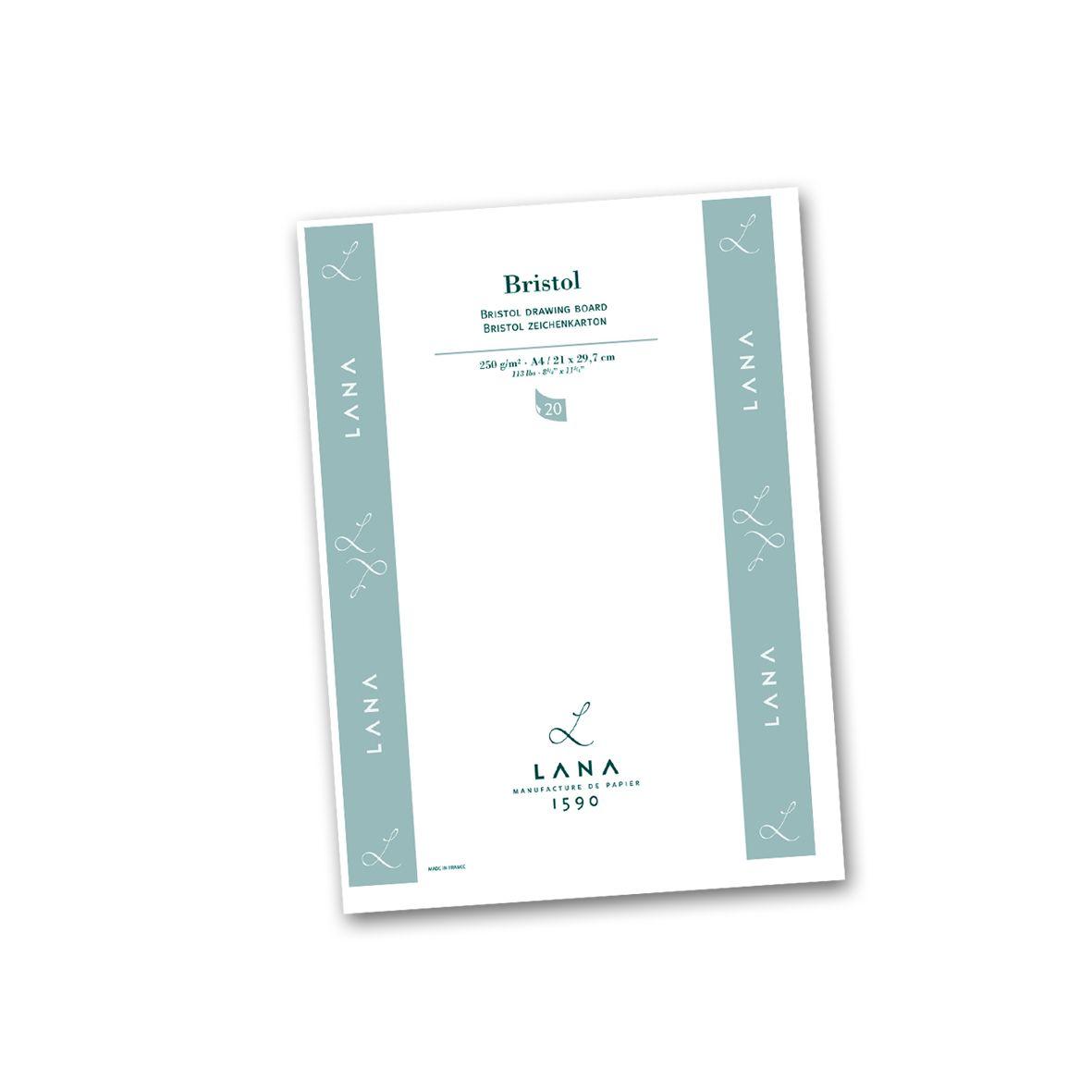 Papel Lana Bristol A4 250g 20 folhas - Lana