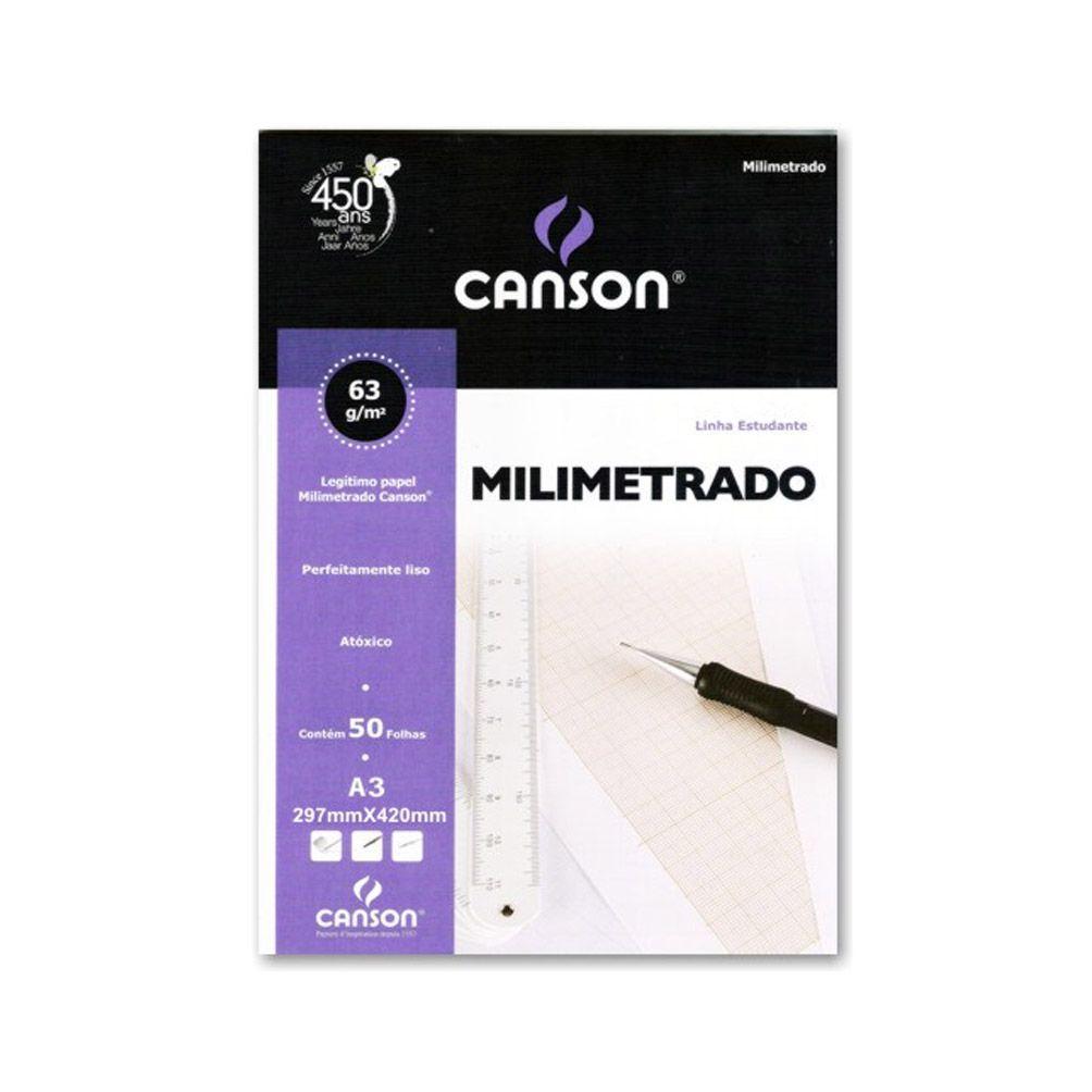 Papel Milimetrado 63g A3 Canson