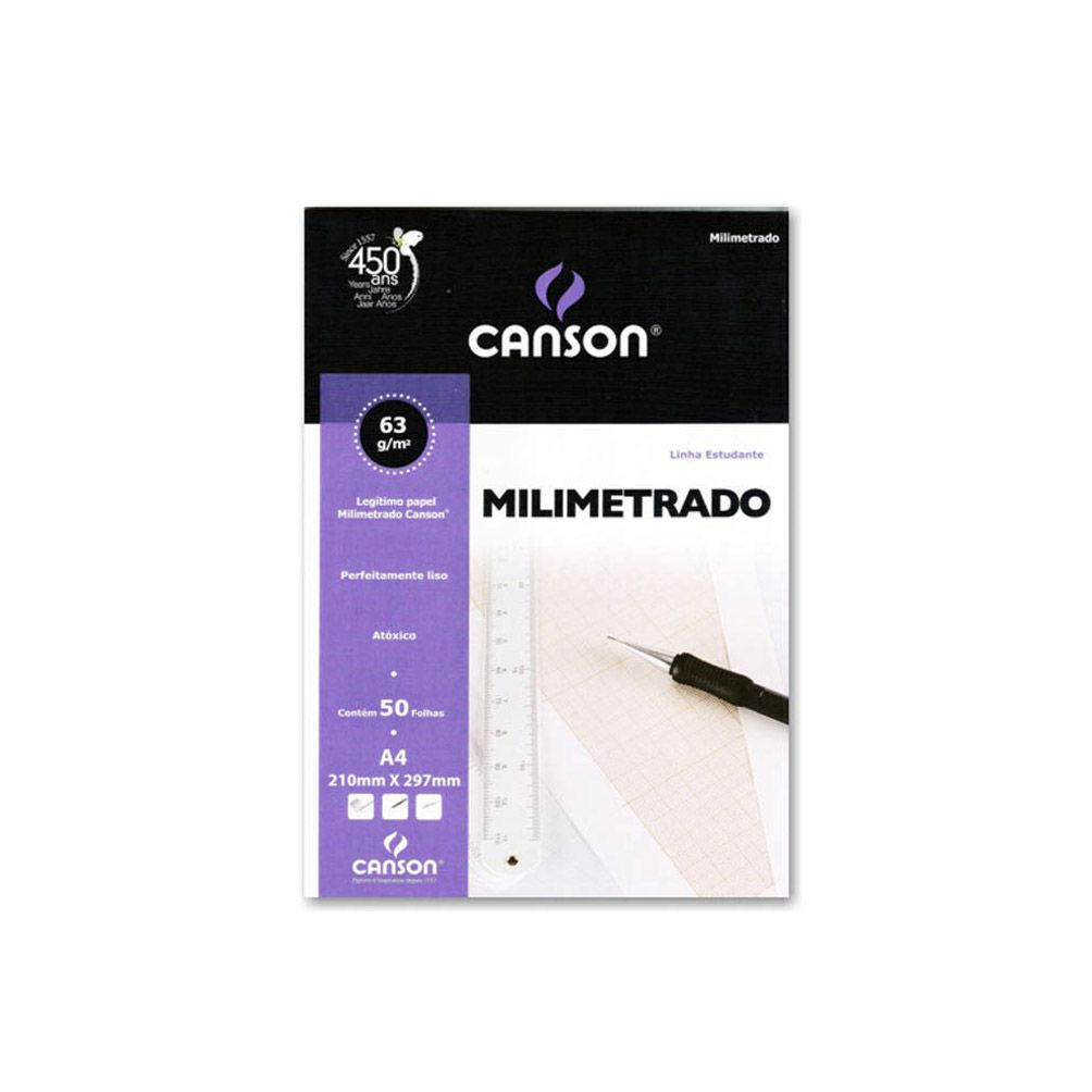 Papel Milimetrado 63g A4 Canson