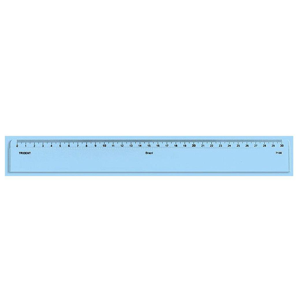 Régua Acrílica Trident 30cm 7130