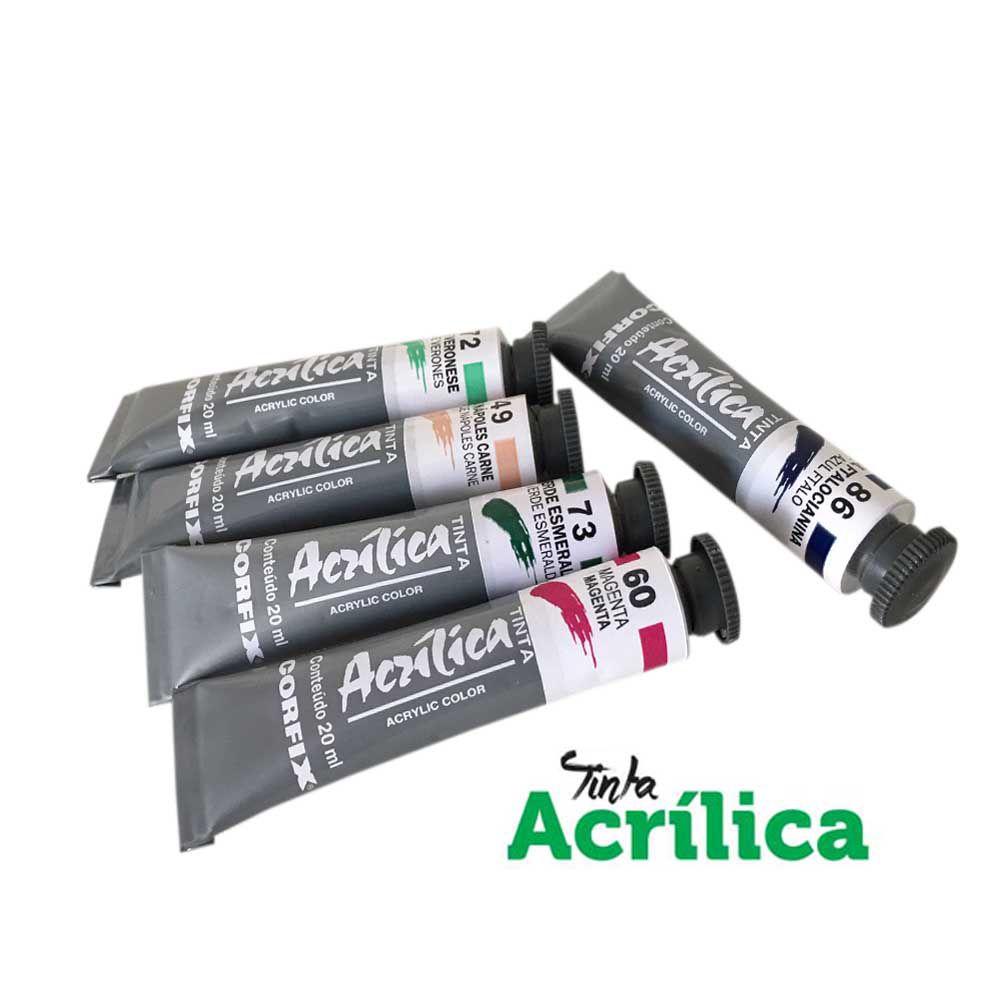 Tinta Acrilica CORFIX 20ml cores avulsas
