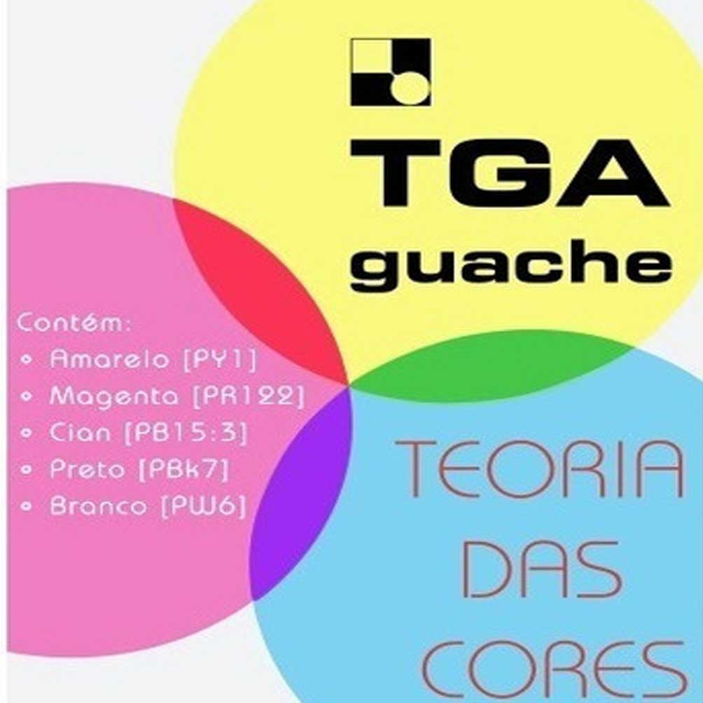 Tinta Guache TGA com 5 Cores de 25ml