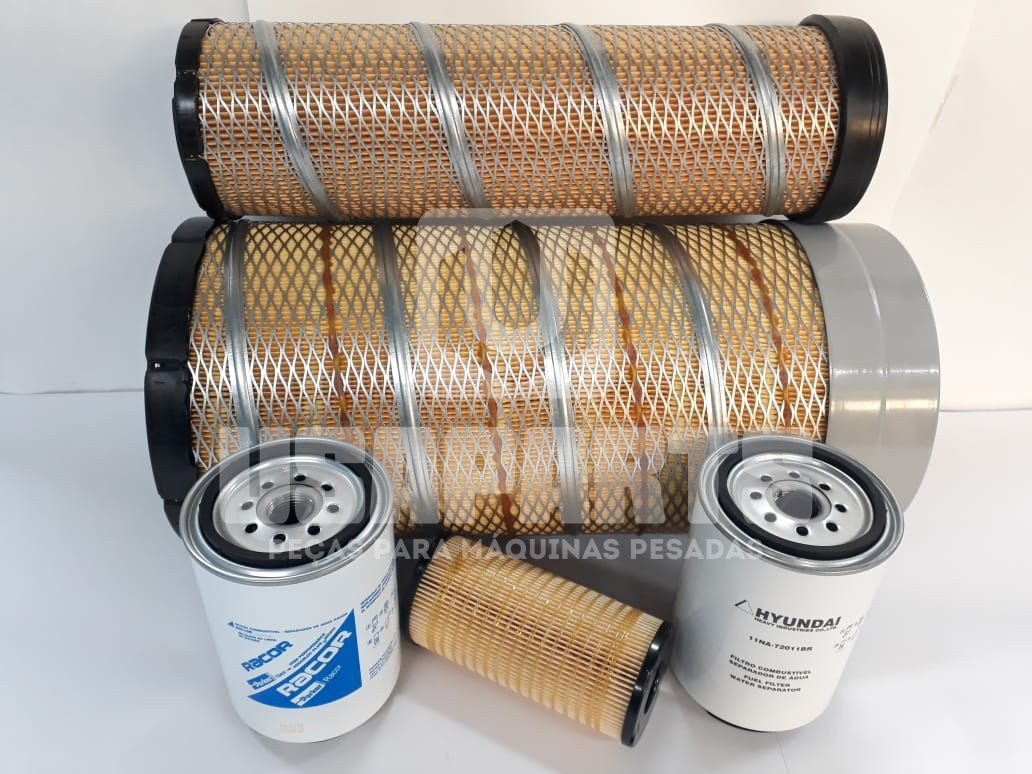 Kit filtros Hyundai R140LC9SB T3 Motor
