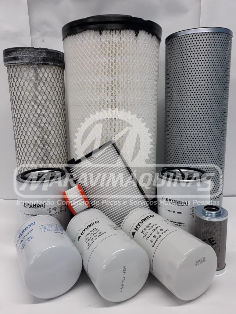 Kit Filtros Hyundai R160LC-9SB T3 1000 Horas