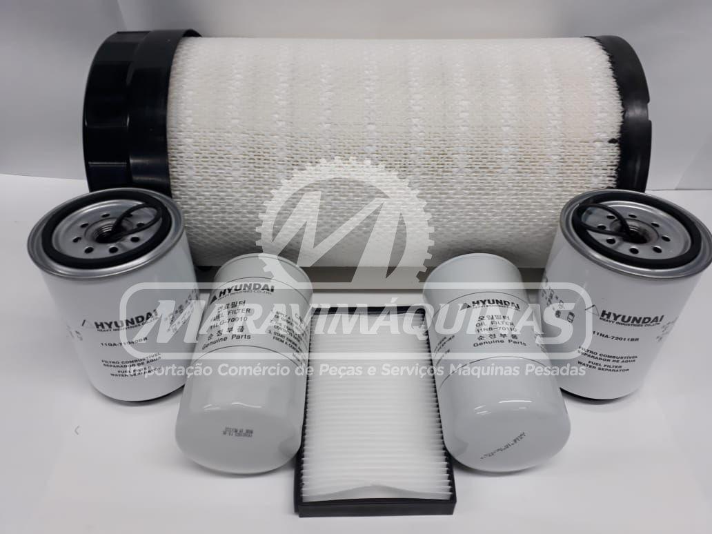 Kit Filtros Hyundai R160LC-9SB T3 500 Horas