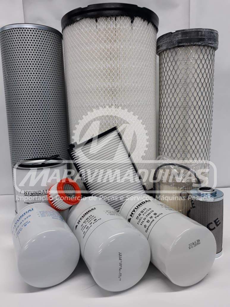 Kit Filtros Hyundai R220LC9SB T3 1000 horas