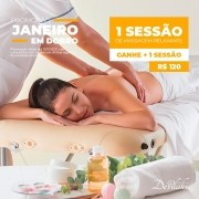 1 sessão de Massagem Relaxante (ganhe mais uma massagem relaxante)