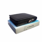 Carteira masculina de couro ziper moderna porta cartão Alpha